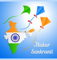 indian holiday makar sankranti banner or greeting vector image vector image