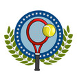 isolated tennis racket design vector image vector image