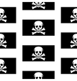 Jolly Roger seamless pattern vector image