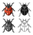 ladybug icon in cartoon style isolated on white vector image