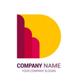 latter d logo template logo template stock vector image vector image