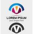 Letter V Logo Design Creative Symbol of letter V vector image vector image