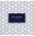line flower style pattern background vector image vector image