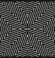linear monochrome geometric seamless pattern vector image vector image