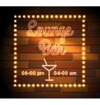 Lounge Bar neon Sight vector image