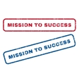 Mission To Success Rubber Stamps vector image vector image