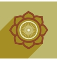Modern flat icon with long shadow lotus vector image vector image
