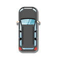 modern suv car top view icon vector image vector image
