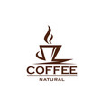 natural coffee design vector image vector image