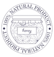 Natural product stamp with honey vector image vector image