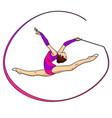 object on white background rhythmic gymnastics vector image