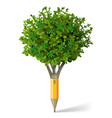 pencil in the form of a tree vector image vector image