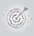 people crowd gathering in shape target with vector image vector image