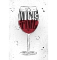 Poster wine time vector image vector image
