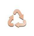 recycling carton sign triangular looped arrows vector image