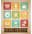 Retro objects vintage design vector image