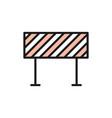 road barrier roadblock borderline flat color vector image