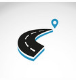 road highway with pin map marker concept vector image vector image