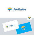 round table logotype with business card template vector image vector image