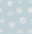 seamless from home-made paper snowflakes vector image vector image