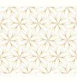 seamless golden flower pattern on white background vector image vector image