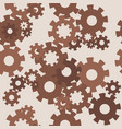 seamless pattern with brown gears vector image vector image