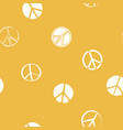 seamless pattern with peace symbols vector image