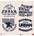Set of vintage stamp vector image vector image