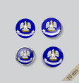 set round buttons with image louisiana vector image vector image