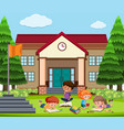 student learning outside school vector image vector image