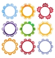 Super cool watercolor round frames vector image