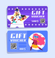 superhero kids gift voucher superheroes children vector image vector image