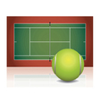 Tennis Court and Ball vector image vector image