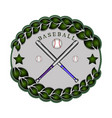 the theme baseball vector image vector image