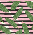 Tropical green leaves seamless pattern