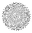 unique mandala design round ornamental pattern vector image vector image