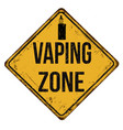 vaping zone vintage rusty metal sign vector image