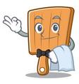 waiter kitchen board character cartoon vector image vector image