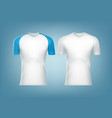 white t-shorts vector image