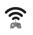 Computer game on the network vector image