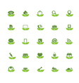 Eco Universal Outline Icons For Web and Mobile vector image