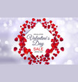 valentines day sale card with frame vector image