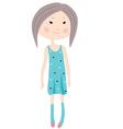 GCartoon little girl vector image