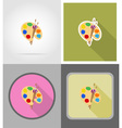 school education flat icons 04 vector image