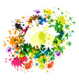 Abstract Colorful Splashes on White Background vector image vector image