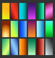 abstract vibrant background set vector image vector image