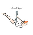 aerial yoga vector image vector image