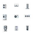 Air cooling equipment color flat icons set