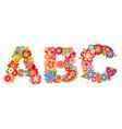 alphabet with flowers abc