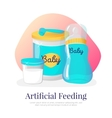 artificial feeding goods vector image